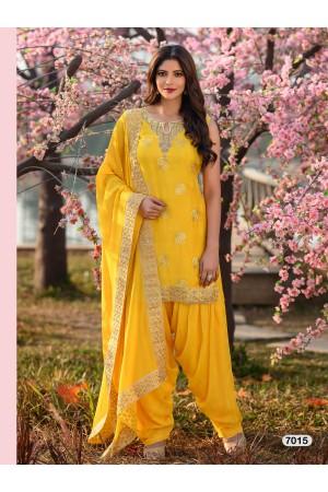 Designer Yellow Patiyala Salwar