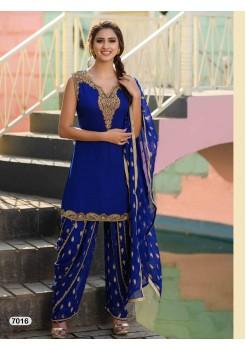 Designer Royal Blue Patiyala Salwar