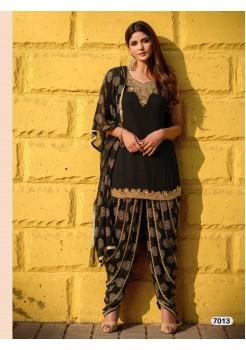 Designer Black Patiyala Salwar Dhoti