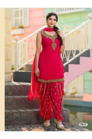 Designer Pink Patiyala Salwar Dhoti