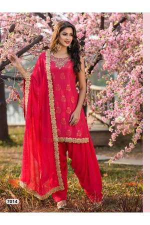 Designer Pink Patiyala Salwar