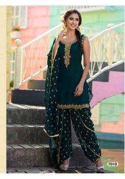Designer Dark Green Patiyala Salwar Dhoti