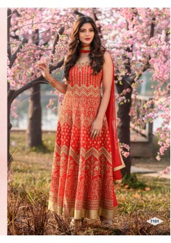 Designer Red Color Anarkali Gown