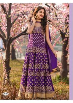 Designer Purple Color Anarkali Gown