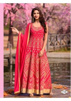 Designer Pink Color Anarkali Gown