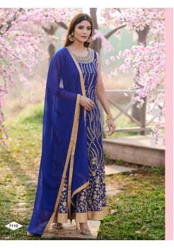 Designer Blue Color Anarkali Gown
