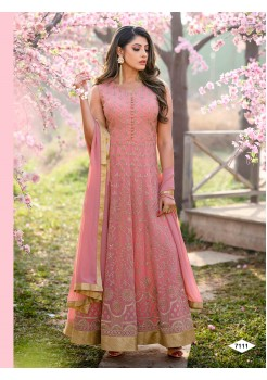 Pretty Pink Color Anarkali Gown