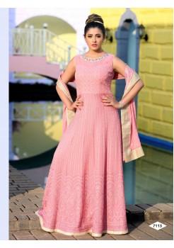 Light Pink Color Anarkali Gown