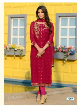 Maroonish Red color  Straight Cut Chudidar
