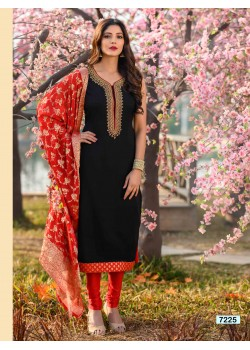 Black color  Straight Cut  Chudidar